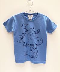 ディメトロドン大陸のキッズTシャツ (blue)