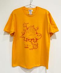 ディメトロドン大陸のTシャツ (deep yellow)
