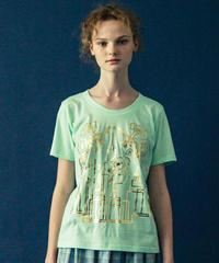 アールデコビルプリントTシャツ(mint)