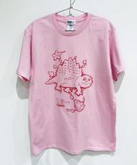 ディメトロドン大陸のTシャツ (pink)