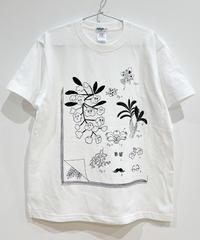 植物図鑑のTシャツ (white)