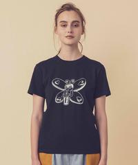 バタフライガールのTシャツ (black)