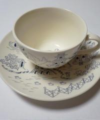 オリジナルウィローパターンカップ&ソーサー