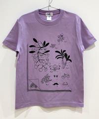 植物図鑑のTシャツ (mauve)