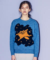 モモンガのセーター(blue)