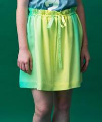 たてぼかしプリントのシルクスカート