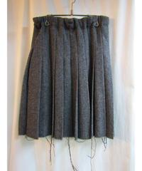 REGULATION yohji yamamoto femme ツイードデザインプリーツスカート