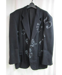 AD1995 COMME des GARCONS HOMME PLUS 黒 数字型押しジャケット PJ-04019M