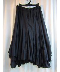 yohji yamamoto +noir femme アシメトリーレイヤードフレアスカート