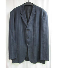 94ss yohji yamamoto pour homme vintage ストライプ 切替えデザインジャケット HT-J54-326