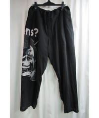 18aw BLACK Scandal yohji yamamoto pour homme 般若プリント紐パンツ HV-P50-205
