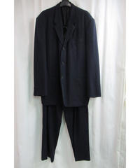 90's yohji yamamoto COSTUME D'HOMME 紺 変わりボタンセットアップ HJ-X03-128