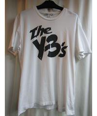 Y-3 yohji yamamoto 白 [The y-3's]プリントTシャツ