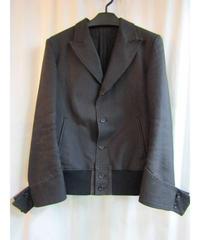 Y's yohji yamamoto femme 裾リブ袖デザインジャケット