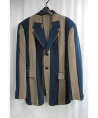 89aw yohji yamamoto pour homme vintage ストライプデザインジャケット