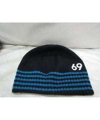 美品 12aw yohji yamamoto pour homme 69ボーダーニット帽
