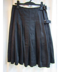 Y's yohji yamamoto femme ベルト付プリーツスカート