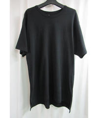 camphor tree 黒 アシメトリーデザインTシャツ