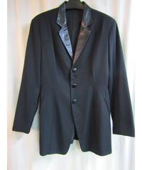 オールド Y's yohji yamamoto femme 襟レザー切り替えデザインジャケット