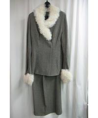 97aw yohjiyamamoto femme vintage ツイードデザインセットアップ FI-J04-159
