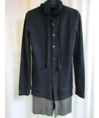 Y's yohji yamamoto 裾切替フード付きロングカーディガン YC-T53-167