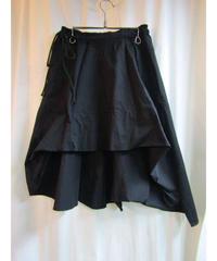 Y's yohji yamamoto femme フロントアシメフレアスカート