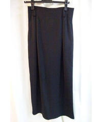 オールドY's yohji yamamoto femme 黒シンプルロングスカート