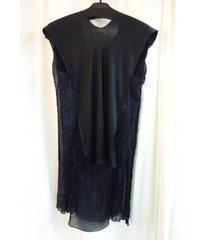 95ss yohji yamamoto femme vintage 黒 チリメン 着物デザインカットソー