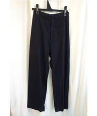 Y's yohji yamamoto femme 黒 デザインストレートパンツ