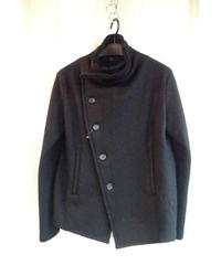 Y's yohji yamamoto femme 黒 変形襟ミリタリージャケット