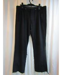 yohji yamamoto POUR HOMME 裾リブ 切りっぱなしデザインパンツ