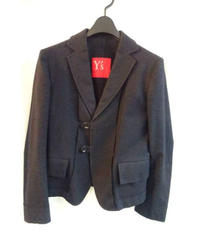 Y's yohji yamamoto femme 黒 デザイン変形ジャケット
