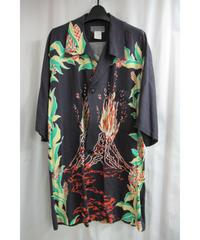 レア 97ss yohji yamamoto pour homme vintage 火山プリントデザインドレスシャツ HU-D14-262