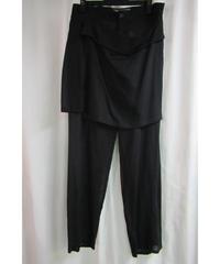 新品 14ss yohji yamamoto +noir 巻きスカートデザインパンツ NG-P08-002
