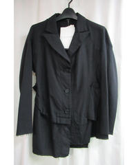 新品 09ss yohji yamamoto femme ダメージ加工デザインジャケット FV-J08-106