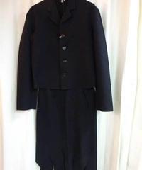 オールド yohji yamamoto femme 黒 キリッパデザインスーツ