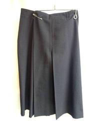 Y's yohji yamamoto femme 黒 巻きピン付きデザインスカート