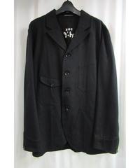 美品 09aw yohji yamamoto pour homme 黒 パチポケットロゴ入りジャケット