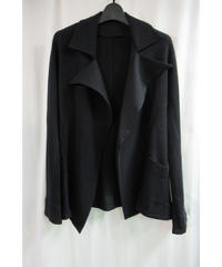05aw yohji yamamoto femme ボタンレス 素材切替えジャケット