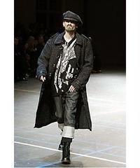 2004aw  yohj yamamoto pour homme ミリタリーダメージ加工ハーフコート