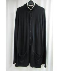 17aw yohji yamamoto pour homme 黒 スタンドカラー チャイナ風デザイン前開きカットソー