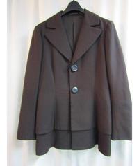 05aw yohji yamamoto femme ダークブラウン BIGボタンデザインジャケット FN-J31-187