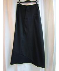 96aw yohji yamamoto femme Y's 裾切り替えデザインAラインスカート