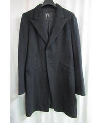 Y's yohji yamamoto スナップ釦 シンプルロングジャケット YE-J10-110