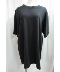 camphor tree 黒 ダブル襟デザインTシャツ