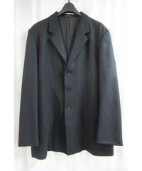 00aw yohji yamamoto pour homme 切替えデザインフラノジャケット