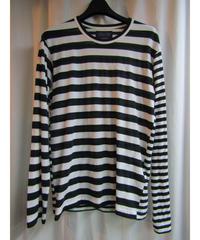 14aw yohji yamamoto pour homme ボーダー切り替えデザインTシャツ