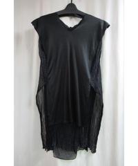 95ss yohji yamamoto femme vintage 黒 チリメン 着物デザインカットソー FB-T71-836