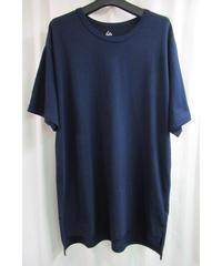 camphor tree 紺 アシメトリーデザインTシャツ