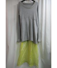 94ss yohji yamamoto femme vintage ニット切替デザインワンピース FT-D81-857